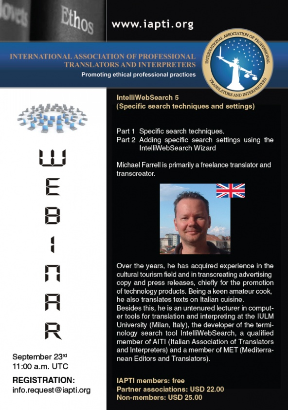 International Association of Professional Translators and Interpreters, Webinar